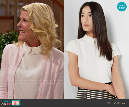 Ted Baker Hellia Embellished Collar Top worn by Alley Mills on The Bold & the Beautiful