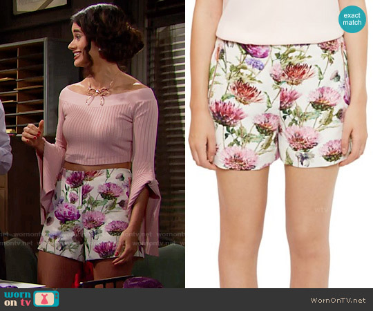 Ted Baker Ruthee Thistle Shorts worn by Darlita on The Bold & the Beautiful
