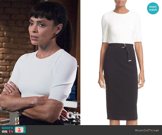 Ted Baker Wandee Dress worn by Camille Saroyan (Tamara Taylor) on Bones