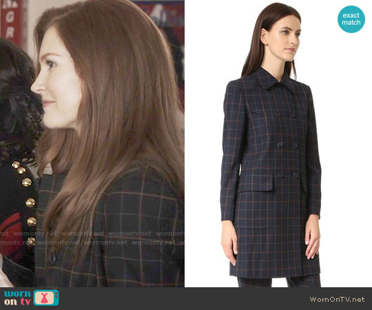 Theory Abla Coat worn by Darby Stanchfield on Scandal