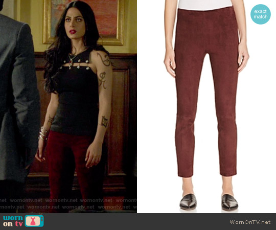 Stretch Suede Pants by Vince worn by Isabelle Lightwood on Shadowhunters