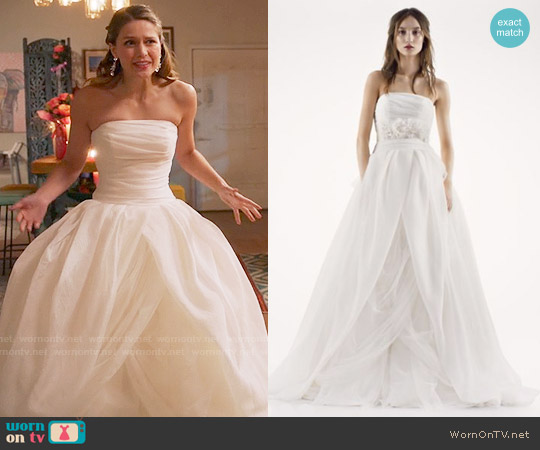 White by Vera Wang Textured Organza Wedding Dress worn by Melissa Benoist on Supergirl