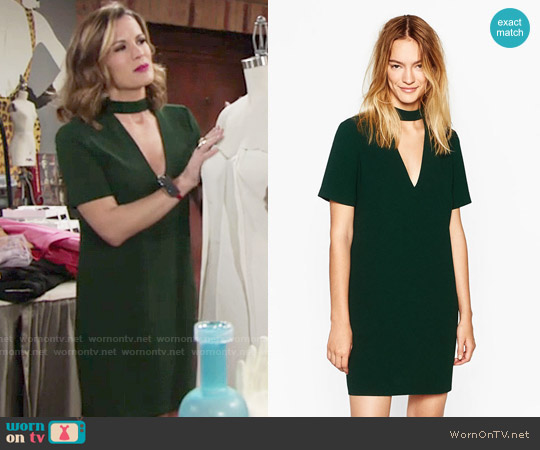 Zara Mini Dress with Collar Detail worn by Chelsea Lawson (Melissa Claire Egan) on The Young & the Restless