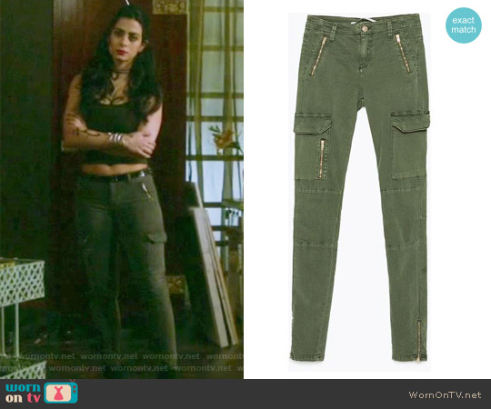 Zipped Cargo Trousers by Zara worn by Emeraude Toubia  on Shadowhunters