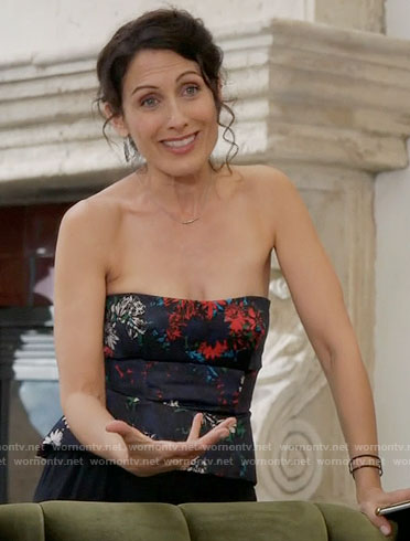 Abby's strapless floral top on Girlfriends Guide to Divorce