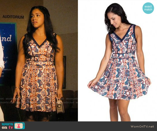 Adelyn Rae Paisley Dress worn by Gina Rodriguez on Jane the Virgin