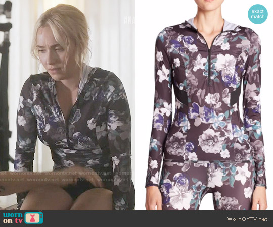 adidas by Stella McCartney Adizero Hooded Floral-Print Top worn by Juliette Barnes (Hayden Panettiere) on Nashville