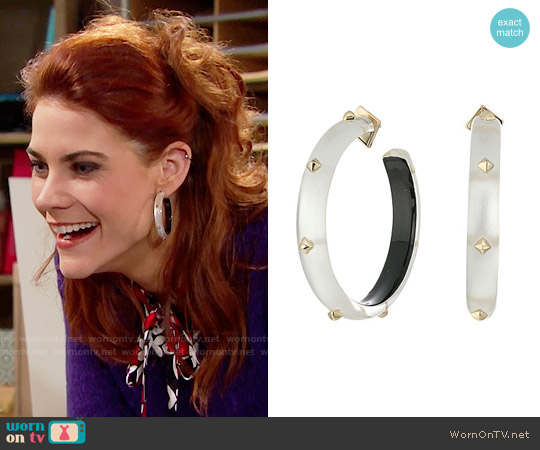Alexis Bittar Studded Hoop Earrings worn by Courtney Hope on The Bold & the Beautiful