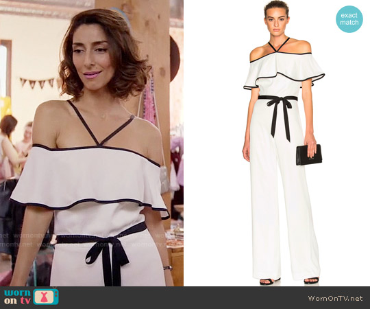 Alexis Spencer Jumpsuit worn by Delia (Necar Zadegan) on GG2D