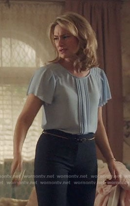 Alice's blue pleated top on Riverdale