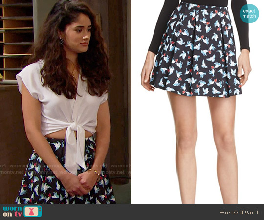 Alice + Olivia Connor Skirt worn by Darlita on The Bold & the Beautiful