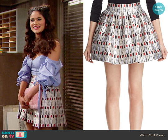Alice + Olivia Fizer Lipstick Skirt worn by Darlita on The Bold & the Beautiful