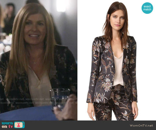 Alice + Olivia Macey Floral Blazer worn by Connie Britton on Nashville