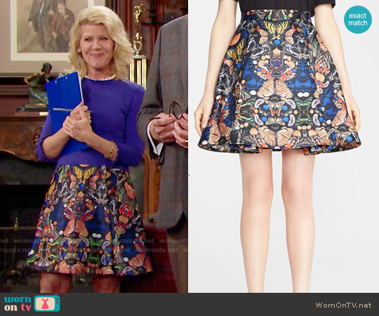 Alice + Olivia Nyla Skirt worn by Pamela Douglas on The Bold & the Beautiful