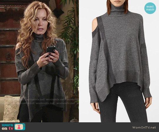 All Saints Cecily Twist Sweater worn by Tracey Bregman on The Young & the Restless