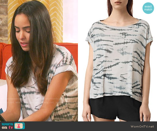 All Saints Pina Tie Dye Tee worn by Victoria Konefal on Days of our Lives