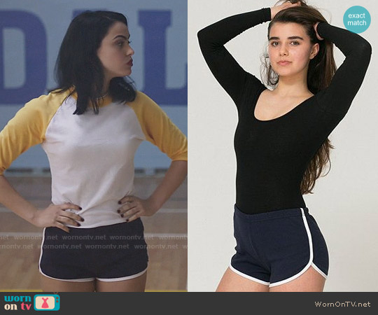 American Apparel Interlock Running Shorts worn by Veronica Lodge (Camila Mendes) on Riverdale
