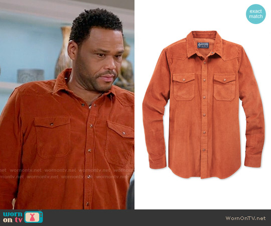 American Rag Corduroy Long-Sleeve Shirt worn by Anthony Anderson on Blackish