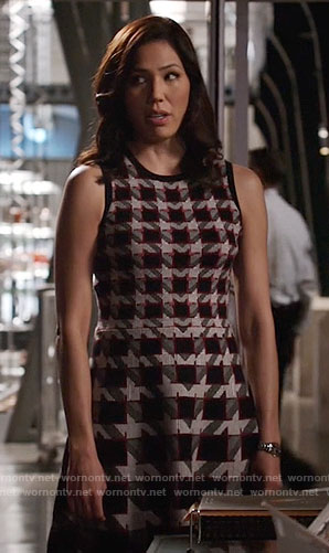 Angela's houndstooth dress on Bones