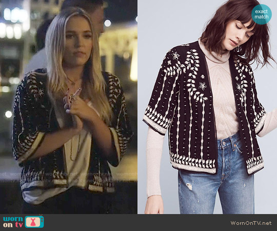 Anthropologie Beaded Richmond Jacket worn by Lennon Stella on Nashville