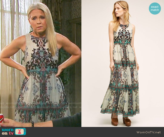 Anthropologie Madera Maxi Dress worn by Melissa Reeves on Days of our Lives
