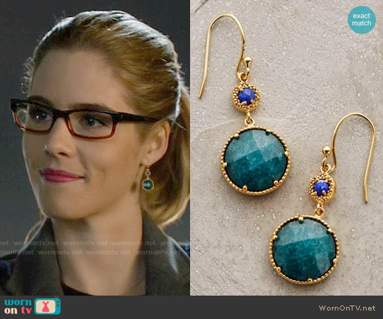 Anthropologie Marchmont Drops worn by Felicity Smoak on Arrow