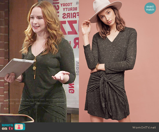 Anthropologie  Dolan Left Coast Tied Tee Dress worn by Mariah Copeland (Camryn Grimes) on The Young & the Restless