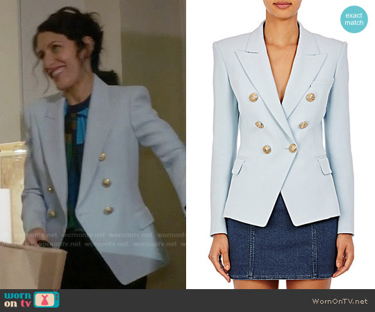 Balmain Double-Breasted Blazer worn by Lisa Edelstein on GG2D