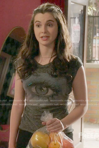 Bay's eye graphic tee on Switched at Birth