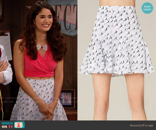 Bebe Print Godet Miniskirt worn by Darlita on The Bold & the Beautiful
