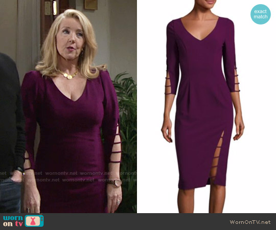 Black Halo Rizzo Dress worn by Nikki Reed Newman (Melody Thomas-Scott) on The Young & the Restless