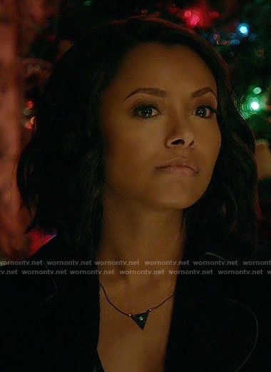 Bonnie's triangle necklace on The Vampire Diaries