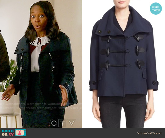 Burberry Brit Craysmoore Peacoat worn by Aja Naomi King on HTGAWM