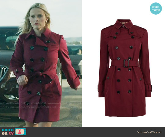 Burberry Mid Length Trench Coat worn by Madeline Martha Mackenzie (Reese Witherspoon) on Big Little Lies