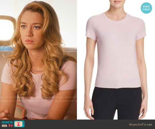C by Bloomingdales Short-Sleeve Cashmere Sweater worn by Yael Grobglas on Jane the Virgin