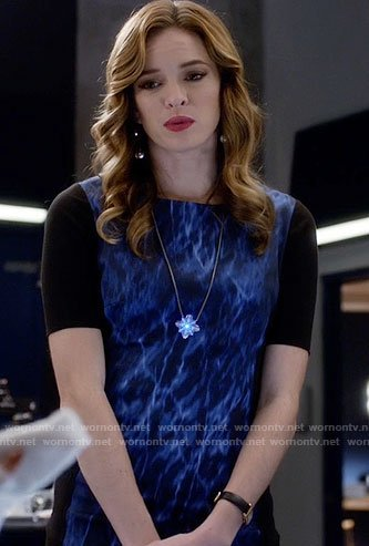 Caitlin's water print dress on The Flash