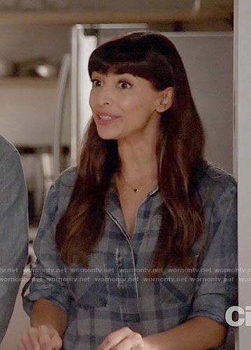 Cece's blue checked shirt on New Girl