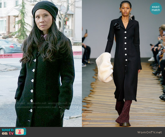 Celine Fall 2014 Coat worn by Lucy Liu on Elementary