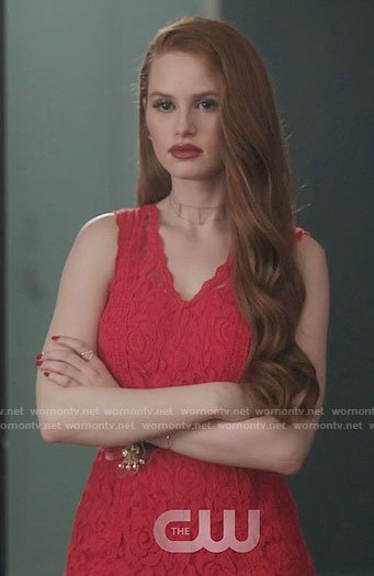 Cheryl's red lace romper on Riverdale