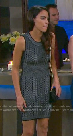 Ciara's black mesh stripe dress on Days of our Lives