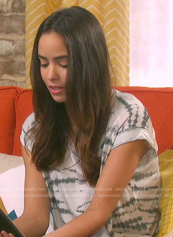 Ciara's tie dye tee on Days of our Lives