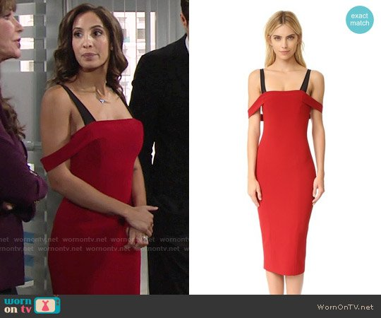 Cinq a Sept Nova Dress worn by Lily Winters (Christel Khalil) on The Young & the Restless