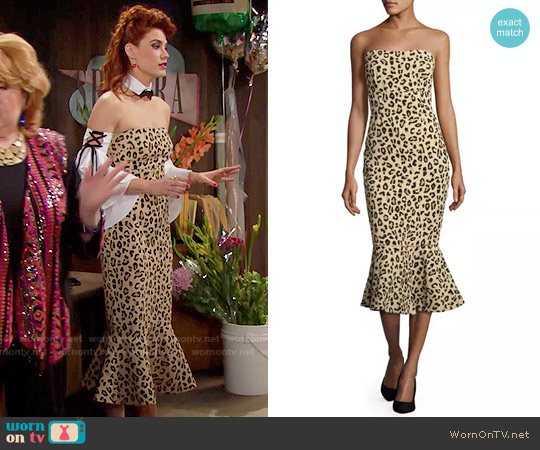 Cinq a Sept Luna Leopard Dress worn by Sally Spectra (Courtney Hope) on The Bold & the Beautiful