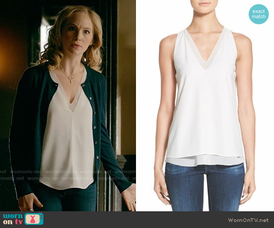 Cooper & Ella Harper Tank worn by Caroline Forbes (Candice Accola) on The Vampire Diaries