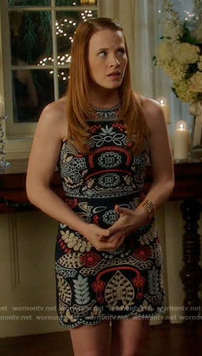 Daphne's embroidered sleeveless dress on Switched at Birth