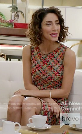 Delia's checked sleeveless dress on Girlfriends Guide to Divorce