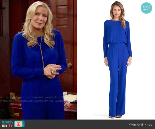 Diane von Furstenberg Cynthia Jumpsuit worn by Katherine Kelly Lang on The Bold & the Beautiful