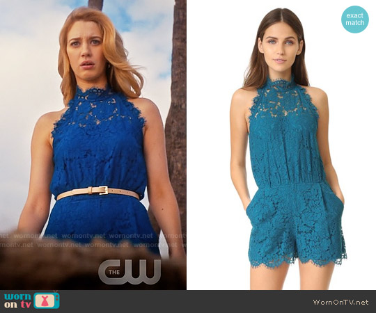 Diane von Furstenberg Jemmie Romper worn by Petra Solano (Yael Grobglas) on Jane the Virgin