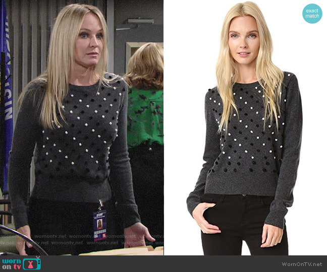 Diane von Furstenberg Revaya Sweater worn by Sharon Collins (Sharon Case) on The Young & the Restless