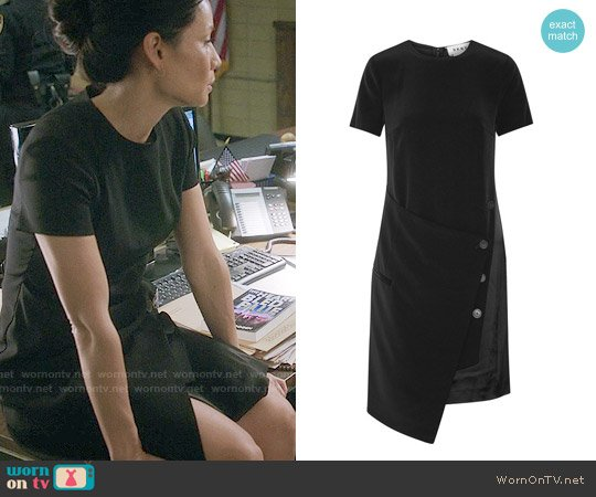 DKNY Wrap Effect Dress worn by Lucy Liu on Elementary